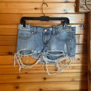UNIF distressed low rise shorts